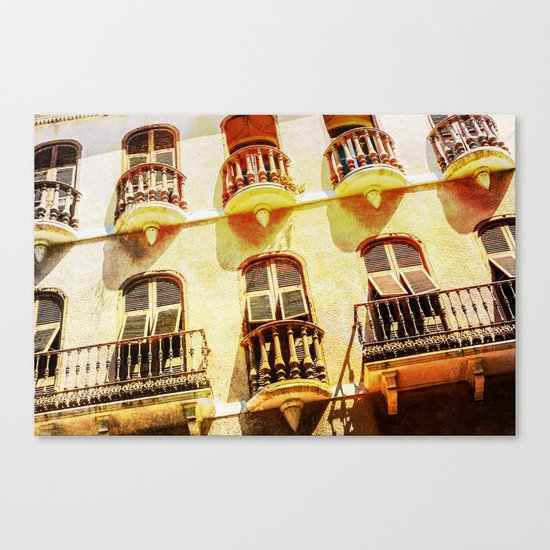 Gibraltar balconies Canvas Print