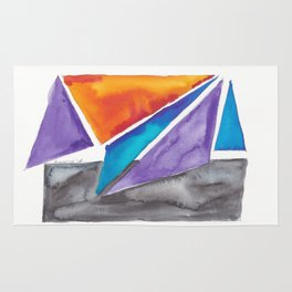 180819 Geometrical Watercolour 1| Colorful Abstract | Modern Watercolor Art Rug