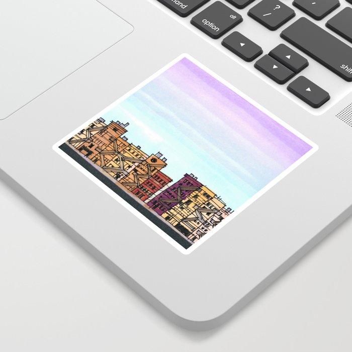 New York Purple Sky Sticker