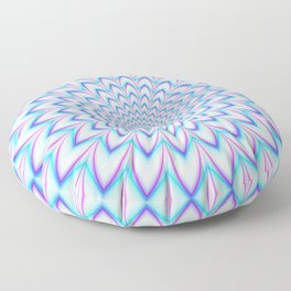 Crinkle Cut Pulse in Pale Blue and Pink Floor Pillow