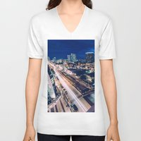 tapestry V-neck T-shirts featuring Tapestry by jmdphoto