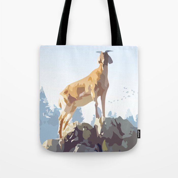 Mountain Goat Tote Bag
