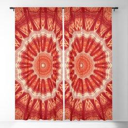 Dark Orange Mandala Design Blackout Curtain