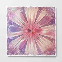 Textured Romance Mandala Metal Print