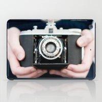 vintage camera iPad Cases featuring Vintage Camera by Kurt Rahn