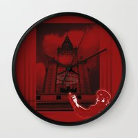 moscow Wall Clocks featuring Moscow by Nerve