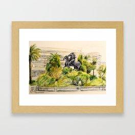 Plaza del Caballo Framed Art Print