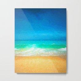 Beautiful Beach Scene Metal Print