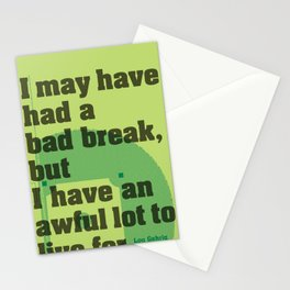 Bad Break Stationery Cards