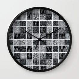 Checkered pattern Wall Clock