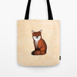 Feeling Foxy Woodland Animal Illustration Tote Bag