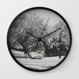 snow on nicholson street Wall Clock