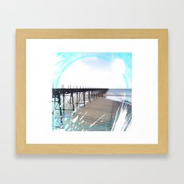 Victorian Pier - paint Framed Art Print