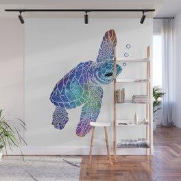 Colorful Sea Turtle II Wall Mural