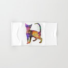 Abyssinian in watercolor Hand & Bath Towel