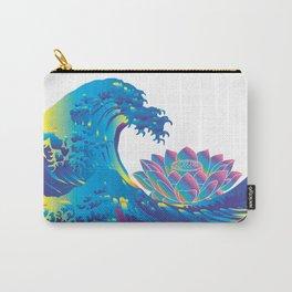 Hokusai Rainbow & Lotus Carry-All Pouch