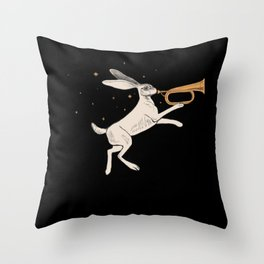 Marching Hare Throw Pillow