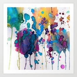Molten Rainbow Art Print