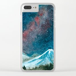 Starlit mountains Clear iPhone Case