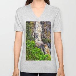 Waterfall in the rainforest Unisex V-Neck