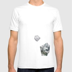 Alaska from above White SMALL Mens Fitted Tee