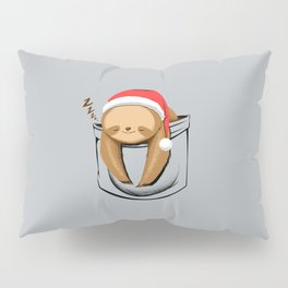Sloth in a Pocket Xmas Pillow Sham