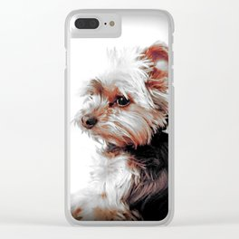 Yorkie | Dog | Dogs | Bad Day eh? | Nadia Bonello Clear iPhone Case