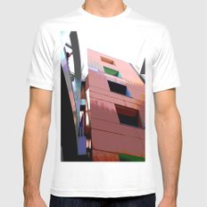 Blocks Mens Fitted Tee MEDIUM White