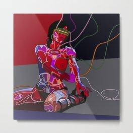 Jessica Biel 80s cyborg Metal Print