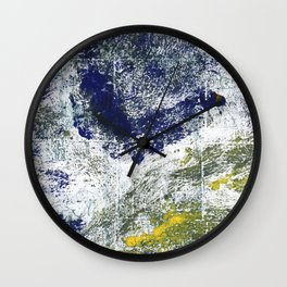 Blue-green abstract Wall Clock