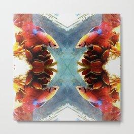 Four Fish Mandala Metal Print