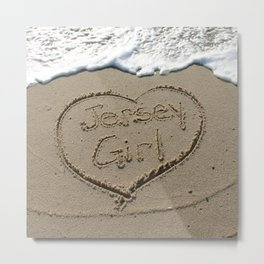 Jersey Girl on the Jersey Shore Metal Print