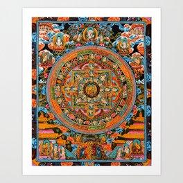 Mandala Buddhist 12 Art Print