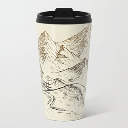 Vector of Mountain Landscape Travel Mug