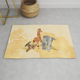 Three Little Friends Rug