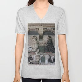 Monument To Sir William Wentworth With Depictions Of His Family Unisex V-Neck