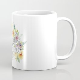 pray without ceasing // watercolor bible verse flowers 1 thessalonians Coffee Mug