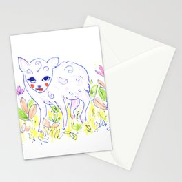Curly Baby Deer Stationery Cards