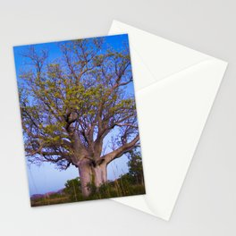 Boab on the Road to Wyndham Stationery Cards