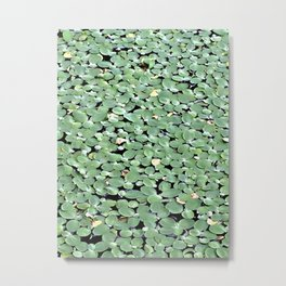Organic Green Metal Print