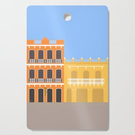 Colored Buildings in Getsemani, Colombia Cutting Board