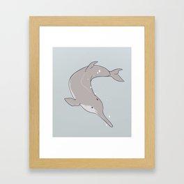Baiji Dolphin Framed Art Print
