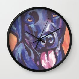 The happy Black Lab Love of My Life -your Labrador dog keeps you smiling! Wall Clock