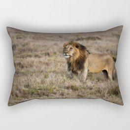 African Lion in Kenya Rectangular Pillow