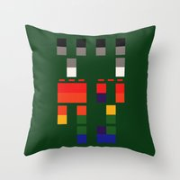coldplay Throw Pillows featuring I Will Try To Fix You by Adel
