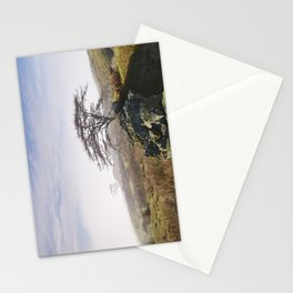 Tree and rising cloud. Cumbria, UK. Stationery Cards