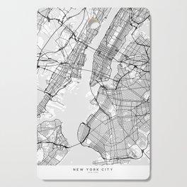 Scandinavian map of New York City in grayscale Cutting Board