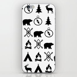 Outdoor Icon Pattern iPhone Skin