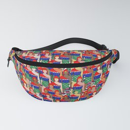 Red People Pattern Fanny Pack