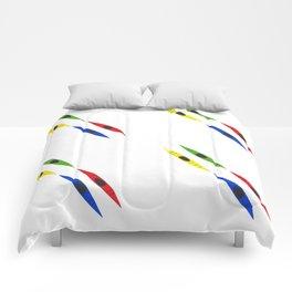 Colorful Kayaks Comforters